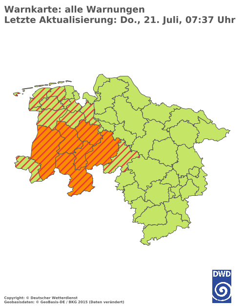 Aktuelle Wetterwarnungen für Neustadt a.d. Waldnaab